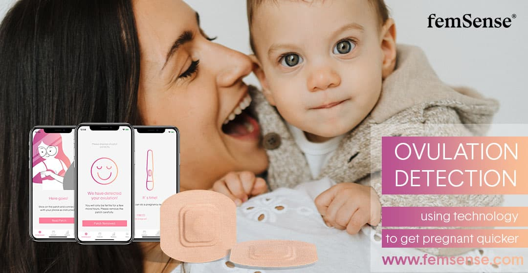 woman and baby ovulation detection