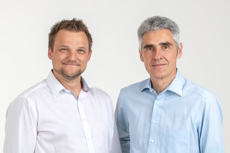 A Photo of the two managing directors: Werner Koele and Peter Gasteiner